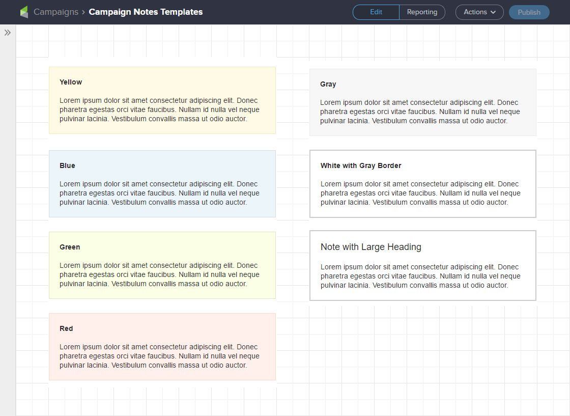 Screenshot of Improved Infusionsoft Campaign Note Examples