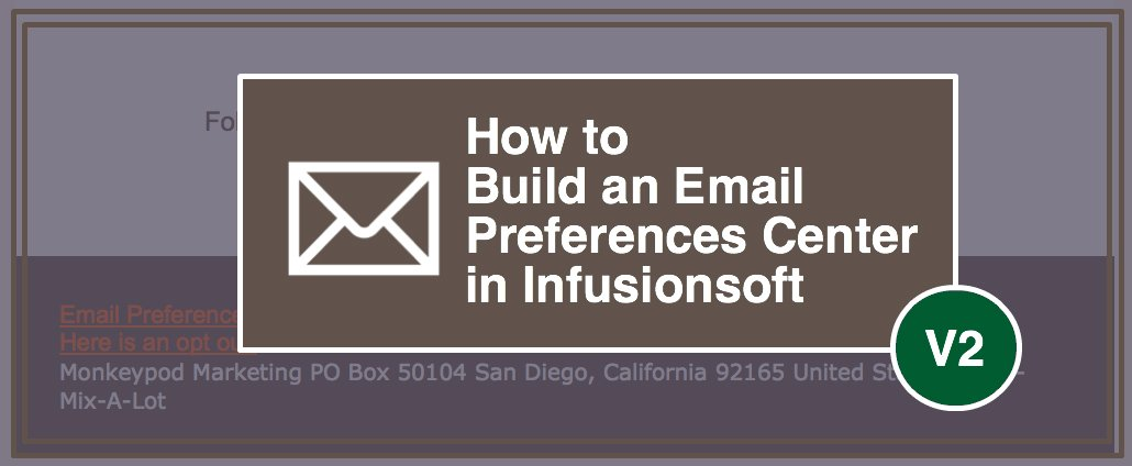 Build An Infusionsoft Email Preferences Center Monkeypod