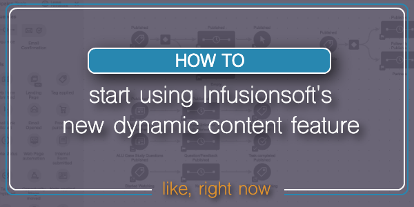 Infusionsoft Dynamic Content blog header